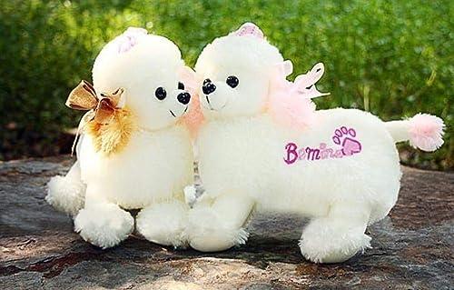 de moda MRWJ Adorable Adorable Adorable Juguete blanco Caniche Hermoso Perro De Peluche 50Cm_marrón_Ears_Style  tomamos a los clientes como nuestro dios