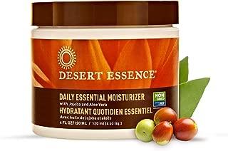 Desert Essence Daily Essential Facial Moisturizer - 4 Fl Oz - Jojoba Oil - Aloe Vera - Prevents Acne - Soft Radiant Skin - Geranium Essential Oil for Natural Fragrance - For Normal Skin