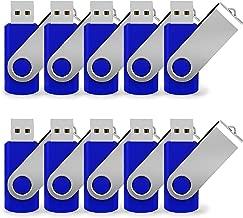 16G USB Flash Drive 10 Pack Easy-Storage Memory Stick K&ZZ Thumb Drives Gig Stick USB2.0 Pen Drive for Fold Digital Data Storage, Zip Drive, Jump Drive, Flash Stick, Blue Colors