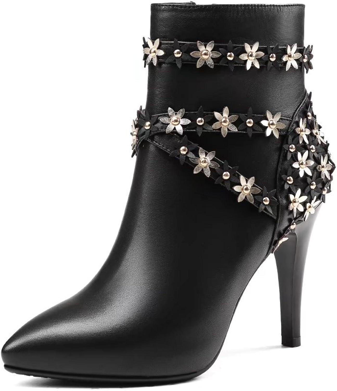 VIMISAOI Fashion Women's High Heel Ankle Booties