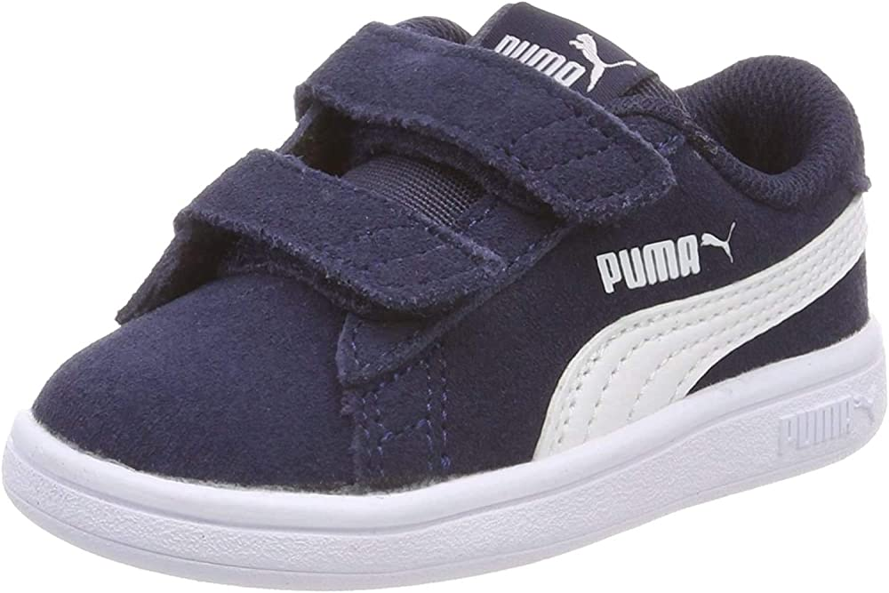 Puma smash v2 sd v inf, scarpe da ginnastica unisex-bimbi 0-24 mesi,in pelle scamosciata 365178
