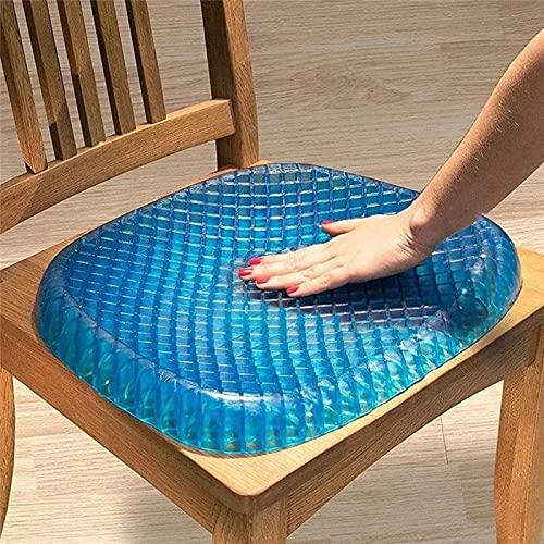 Ducomi Eggish gel-stoelkussen voor kantoor, auto, stoelen, bed, fauteuil, siliconen kussen voor autostoel, bureau en bank, ergonomische antislip ondersteuning voor rug, lenden- en nek