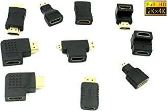 Multiple Hdmi Cable Connector Adapters Kit (10 Adapters) 4K, 1080p, 3D, HDMI 2.0, UHD Adapters
