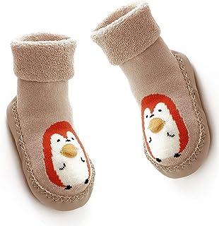 Beito, Los niños pequeños los niños recién nacidos antideslizante suela de goma Calcetines Botas de dibujos animados del deslizador de calcetines durante 18-24 meses de bebé