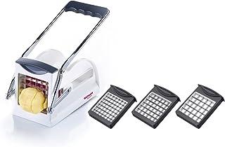 Westmark Pommes frites-verktyg och Grönsaksskärare med tre skärblad i rostfritt stål, Easy Stix, Vit/Antracit, 11802260