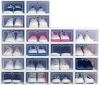 WUPYI2018 Lot de 20 boîtes de rangement en plastique transparent pour chaussures