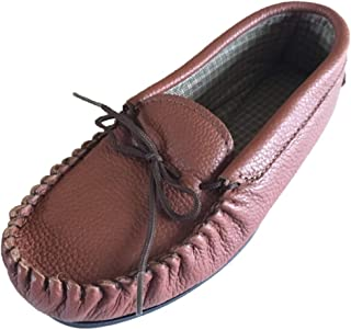 Lambland (Mocassins) British Made 100% Genuine Soft Leather Moccasin Slippers