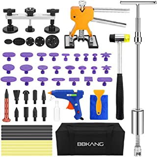 BBKANG Paintless Dent Repair Remover Removal Tool Kit 60pcs Professional Car Dent Remover Tools Bridge Puller T Puller Hot Glue Tap Down Kits