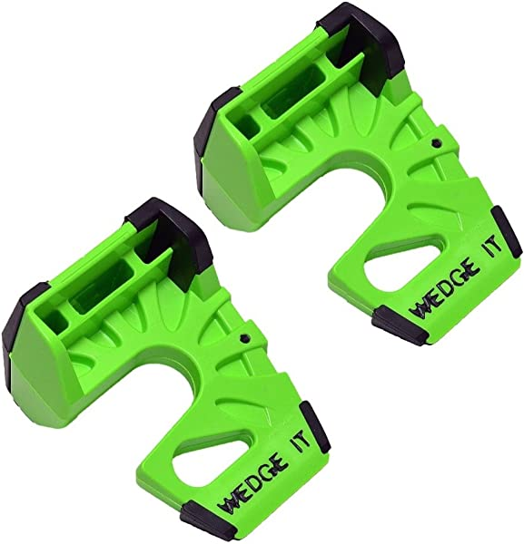 Wedge It The Ultimate Door Stop Lime Green TWO PACK