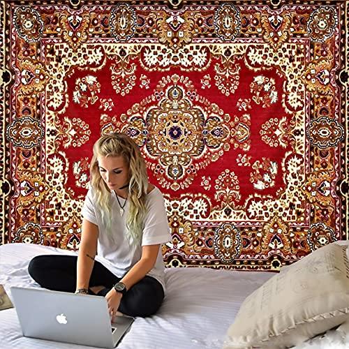 PPOU Hermoso Tapiz de Mandala Simple Flor Colgante de Pared Hippie Estilo Bohemio Fondo Tela Manta Tela Colgante A1 100x150 cm