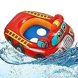 O-Kinee Anello di Nuoto per Bebè, Anello di Nuoto, Seggiolino Piscina per Bambini, Anello da Nuoto Gonfiabili,Neonati Piscina Giocattolo, Regali per Bambini (Rosso)