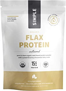 Sprout Living, Flax Protein Powder, 15 Grams Organic Plant Protein, Vegan, Gluten Free, No Dairy, No Additives, 1 Pound, 1...