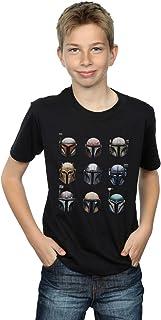 Star Wars Niños The Mandalorian Helmet Display Camiseta
