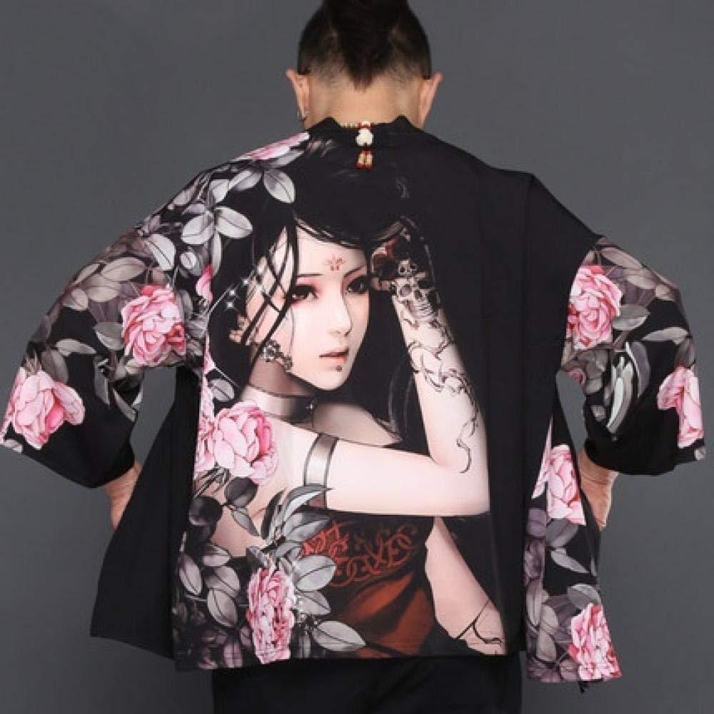 HNBY Hombres Yukata Haori Japonesa Kimono Hombres Chaqueta De Punto Samurai Kimono Hombre De La Chaqueta Kimono Camisa De La Ropa Traje Yukata Haori (Color : 6, Size : The): Amazon.es: Hogar