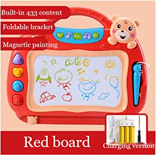 GUIOB Children s Drawing Board Magnetic Pen Writing Board Rewritable Magnet Small Blackboard Magnetic Graffiti Board Baby Toys Red