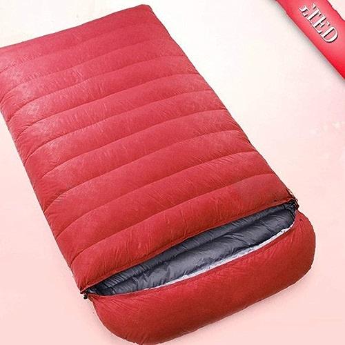 Igspfbjn Sac de Couchage Ultra léger pour Camping, Voyage, équipement de randonnée-Camping (Couleur   rouge, Taille   1000g)