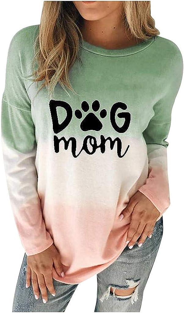 NREALY suéter Womens Christmas Long Sleeve Sweatshirt Dyed CartoonSnowman Printed Pullover