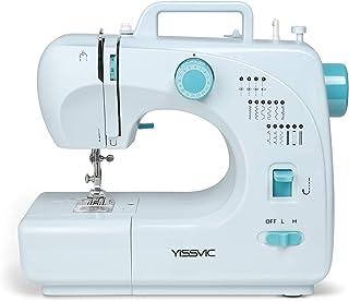 YISSVIC Machine à Coudre Electrique 16 Points Fil 2 Vitesses avec LED Eclairage et Pédale pour Vêtement Rideau Echarpe Con...