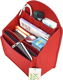VANCORE リュックインナーバッグ 自立 バッグインバッグ フェルト 収納バッグ レディース メンズ バックインバック ポケット多い