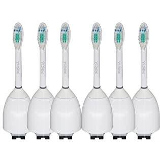 6 Pack Replacement Toothbrush Heads for Philips Sonicare Toothbrush e Series Essence, Xtreme, Elite and Advance