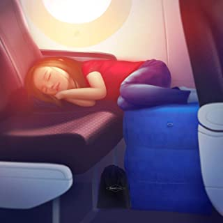 RestZone Inflatable Air Travel Pillow for Leg Rest | Comfortable Footrest for Outdoors and Camping | Children and Kids to Sleep Soundly in Flight or Car