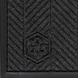 M+A Matting 2240 Waterhog Classic ECO Elite PET Polyester Entrance Indoor Floor Mat, SBR Rubber Backing, 3' Length x 2' Width, 3/8' Thick, Black Smoke