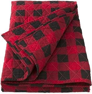 Plow & Hearth 92657-RD Buffalo Plaid Throw Blanket, R, Red