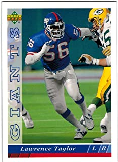 1993 Upper Deck New York Giants Team Set with Lawrence Taylor & Phil Simms - 16 NFL Cards