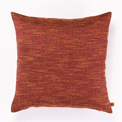 Spiffing Yarns - Waterproof Outdoor Cushions - Soft Faux Brushed Cotton Scatter Cushion Covers 45cm x 45cm - Hollowfibre Filling (Burnt Orange)