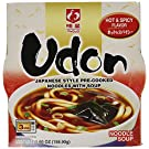 Myojo Bowl Flavored Udon Noodles, Hot and Spicy, 5.6 Ounce