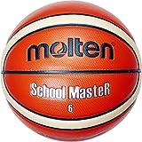Molten Unisex's School Master Basketball Ball Gr. 7, Orange/Ivory, 7