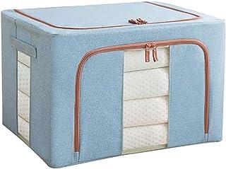 Boîte De Rangement En Lin En Coton Boîte De for Vêtements Pliée Avec Couvercle Et Poignée Boîte De Rangement Grande Capaci...