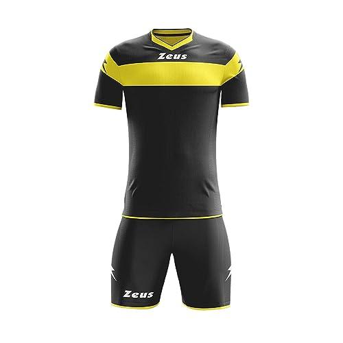 kit calcio calcetto volley zeus boca divisa muta maglia e pantaloncino