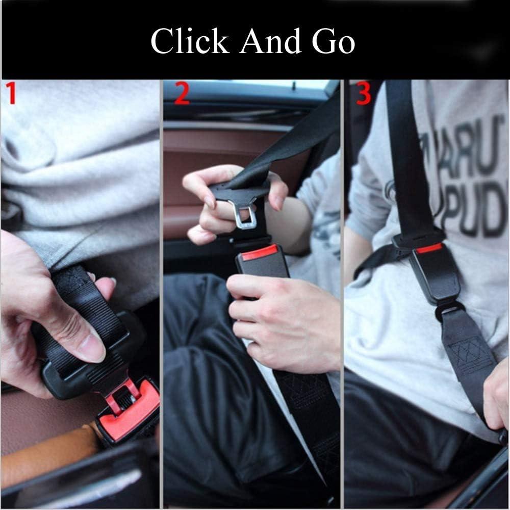 Car Buckles Extender Car Seat Belt Extender Buckles Certified Universal Extension Socket 2PCS Extender and 2PCS Safety Seatbelt Clips 2PCS Gray 7//8 Metal Tongue