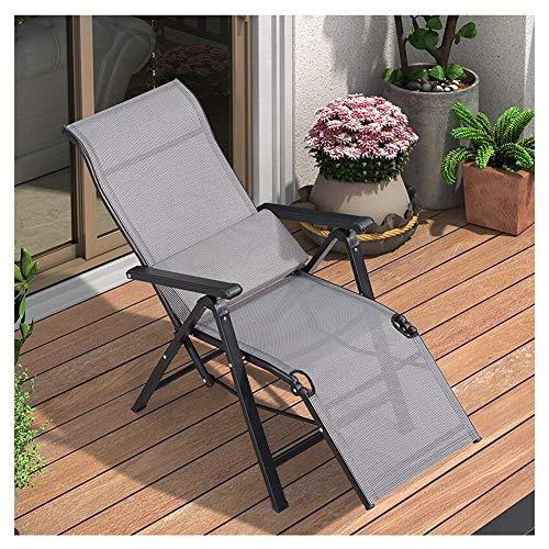 Gartenstuhl Klappstuhl Liegestuhl Nap Stuhl Leicht und tragbar Kann for Balkon Garten Garten Strand Sonnenbaden verwendet Werden (Color : Gray)