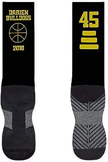 Basketball Mid-Calf Socks | Custom Team Name & Number | Assorted Colors