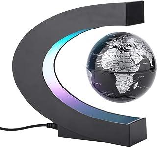 Magnet Globe, Magnetiska sfärer Globes LED Flytande sfär Världskarta C-form som skrivbordsdekoration, julklapp födelsedags...