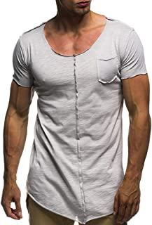 Men's T-Shirt Round Neck Thin Sweatshirt Sports Casual Outdoor T-Shirt Quick-Drying Short Sleeve (Color : Silver, Size : XL)