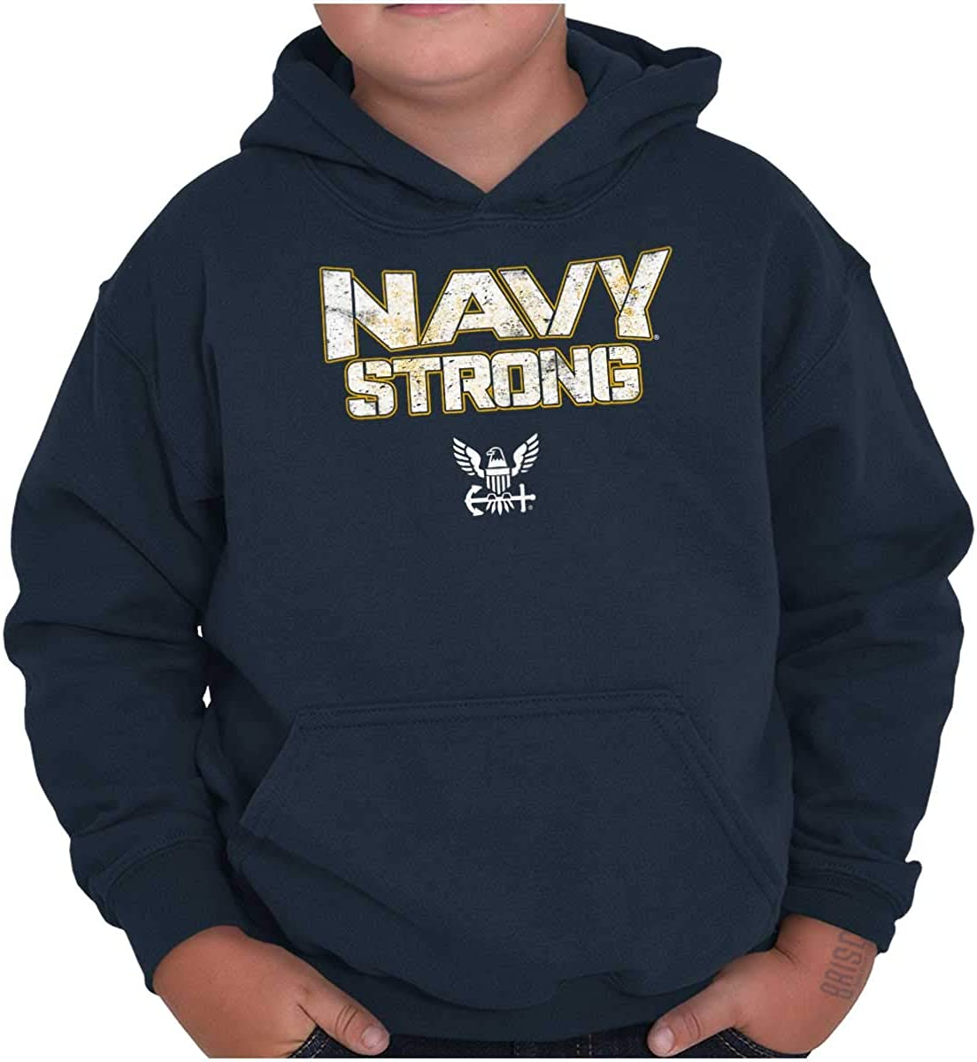 Navy Strong United States Military Youth Hoodie Boy Girl