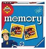 Ravensburger Italy - Fireman, Sam El Bombero Memory en Formato Pocket, 15 x 15 cm, Juego de 24 Pares de cartón, 48 Tarjetas, para niños a Partir de 4 años, de 2 a 8 Jugadores, Multicolor, 20531 8