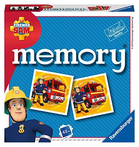 Ravensburger Italy - Fireman Sam Feuerwehrmann Memory im Taschenformat, 15 x 15 cm, Spiel, 24 Paare aus Karton, 48 Karten für Kinder zum Spielen von 4 Jahren, von 2 bis 8 Spielern, mehrfarbig, 20531 8