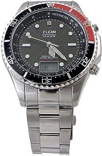 エルジン ELGIN ソーラー 電波 メンズ 腕時計 FK1400S-BRP ブラック/レッド