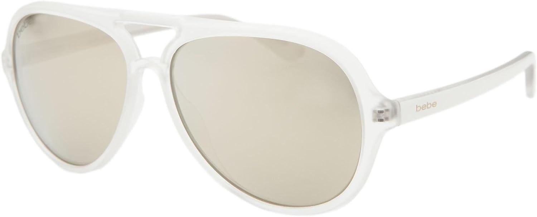 Bebe sunglasses Women's Aviator Maya BB7131 White
