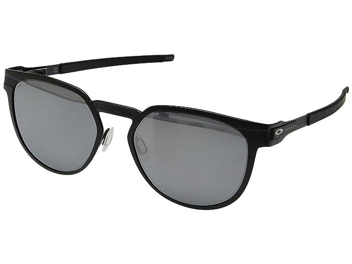 Oakley Diecutter (Satin Black/Black Iridium Polarized) Sport Sunglasses