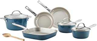 Porcelain Enamel Nonstick 10-Piece Cookware Set, Ayesha Curry (Twilight Teal)