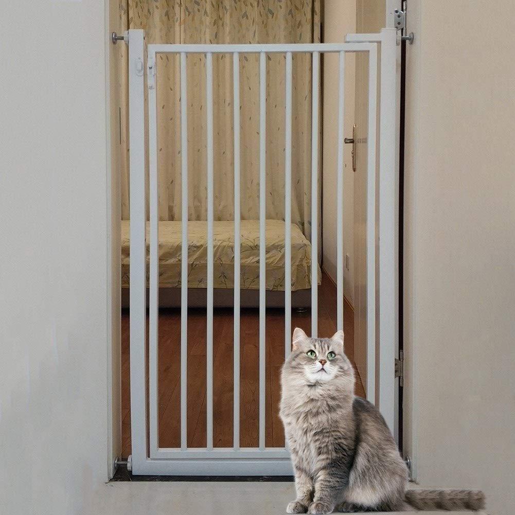 Puerta de Seguridad para Niños Puerta para Mascotas Extra Alta para Perro Gato, Puerta para Bebés de Hierro para Escaleras Interiores, Montaje a Presión en la Pared, Altura 90cm, Ancho 65-149cm: Amazon.es: