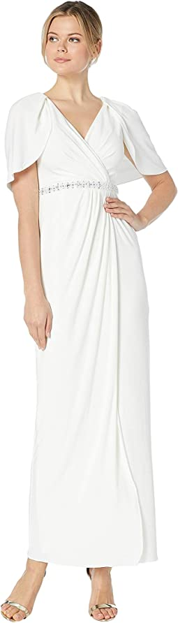 e2a7d83177b0 Adrianna papell plus size short sleeve blouson beaded gown | Shipped ...