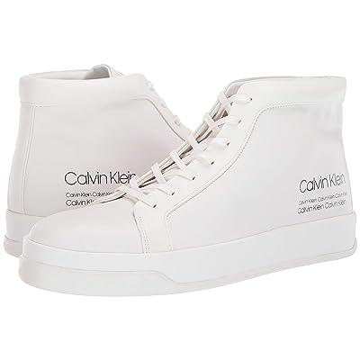 Calvin Klein Fergusto (White Smooth Calf Leather/Industrial Print) Men