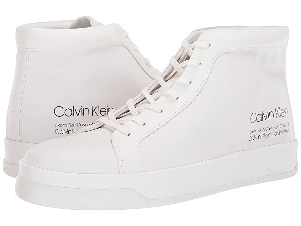 Calvin Klein Fergusto (White Smooth Calf Leather/Industrial Print) Men