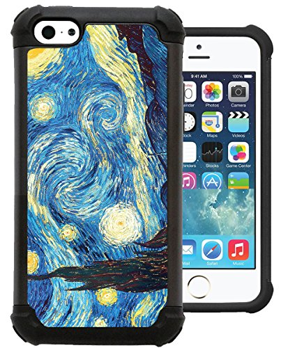 Corpcase - Hybrid Case for iPhone 5C - Starry Night/ Unique Case With Great Protection